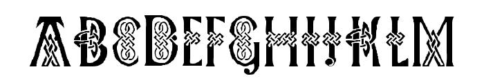 Pee's Celtic Plain Font UPPERCASE
