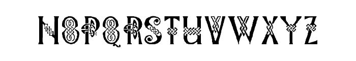 Pee's Celtic Plain Font LOWERCASE