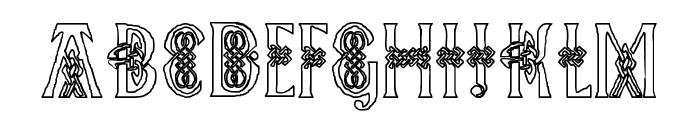 Pee's Celtic outline Font UPPERCASE