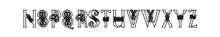 Pee's Celtic outline Font LOWERCASE