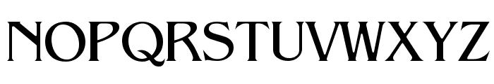 Pegasus Regular Font UPPERCASE