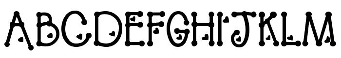 PeggyFont Bold Font UPPERCASE