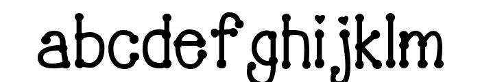 PeggyFont Bold Font LOWERCASE