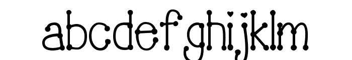 PeggyFont DemiBold Font LOWERCASE