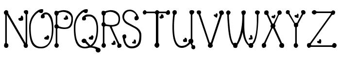 PeggyFont Light Font UPPERCASE
