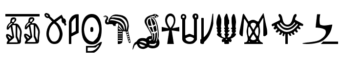 Pegypta Font UPPERCASE