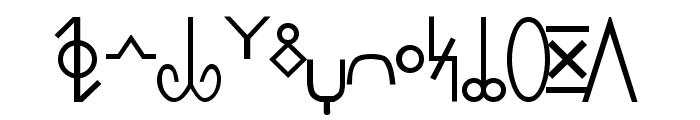 Pekrif Normal Font UPPERCASE