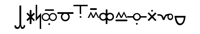 Pekrif Normal Font LOWERCASE