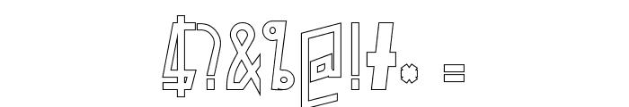PelanquierHollow Font OTHER CHARS