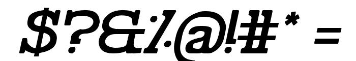 Pelida Italic Bold Font OTHER CHARS