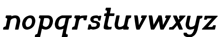 Pelida Italic Bold Font LOWERCASE