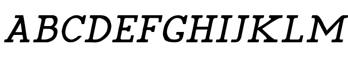 Pelida Italic Font UPPERCASE