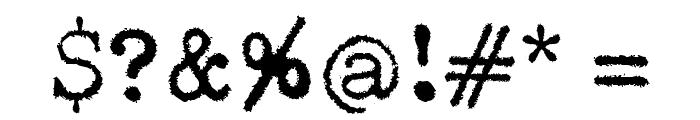 Pelkistettya todellisuutta Font OTHER CHARS