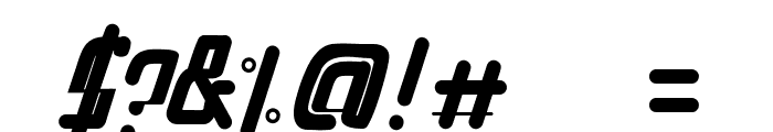 PenTagon-Italic Font OTHER CHARS