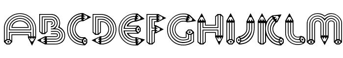 Pencil Caps Font UPPERCASE