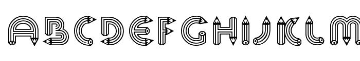 Pencil Caps Font LOWERCASE