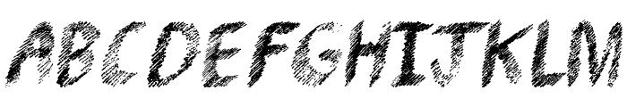 Pencil Shading Font UPPERCASE