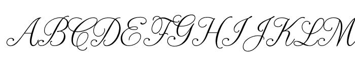 PeninsulaScriptOpti-Three Font UPPERCASE