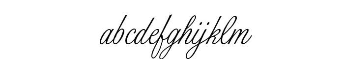 PeninsulaScriptOpti-Three Font LOWERCASE