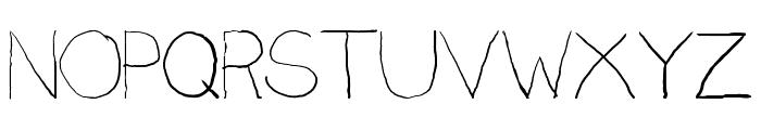 Penmanship: B- Font UPPERCASE