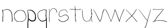 Penmanship: B- Font LOWERCASE