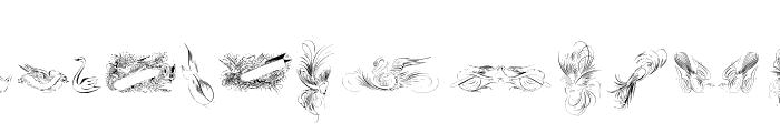 Penmanship Birds Free Font UPPERCASE