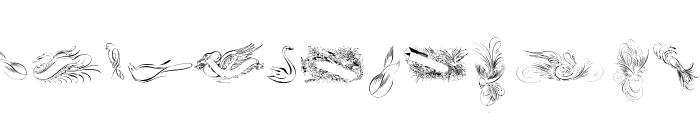 Penmanship Birds Free Font LOWERCASE