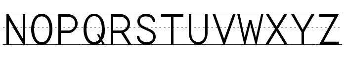 Penmanship Print Font UPPERCASE