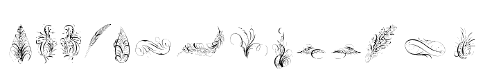PenmanshipFeathers Font UPPERCASE