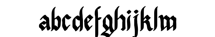 Pennybridge 1563 Font LOWERCASE