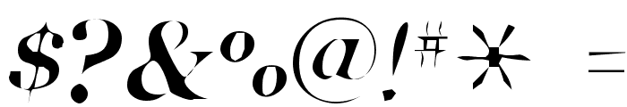 Pensmooth Font OTHER CHARS