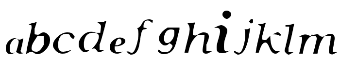 Pensmooth Font LOWERCASE