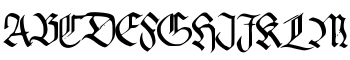 PentaGram s Callygraphy Regular Font UPPERCASE