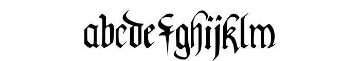 PentaGram s Callygraphy Regular Font LOWERCASE