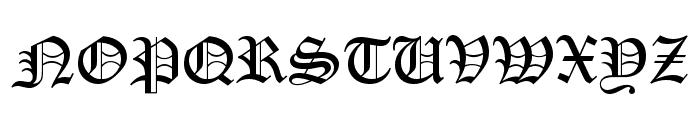 PentaGram s Gothika Regular Font UPPERCASE