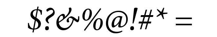 PentaGram s GothikaItalic Font OTHER CHARS