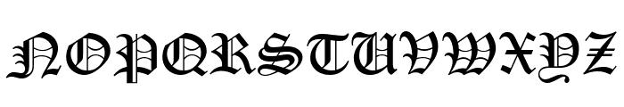PentaGram s GothikaItalic Font UPPERCASE