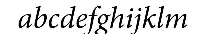 PentaGram s GothikaItalic Font LOWERCASE