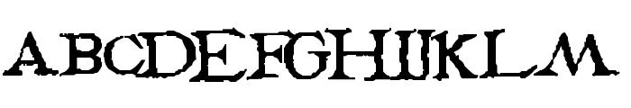 PentaGrams Stregherria Regular Font UPPERCASE