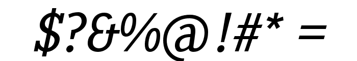 PentayBook-Italic Font OTHER CHARS