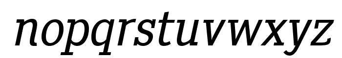 PentayBook-Italic Font LOWERCASE