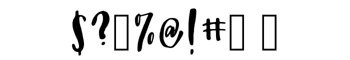 Peony Regular Font OTHER CHARS
