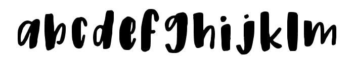 Peony Regular Font LOWERCASE
