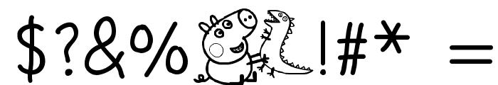 Peppa Pig Medium Font OTHER CHARS