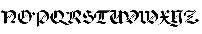 Percival Regular Font UPPERCASE