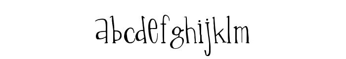 Percolation Font LOWERCASE