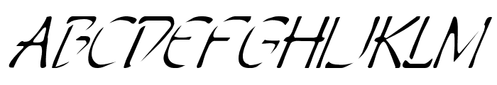 Perdition Italic Font UPPERCASE