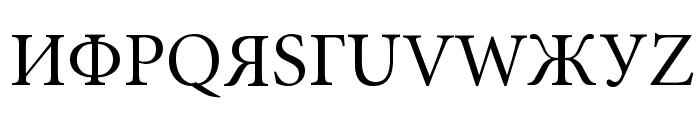 Perestroika Font UPPERCASE