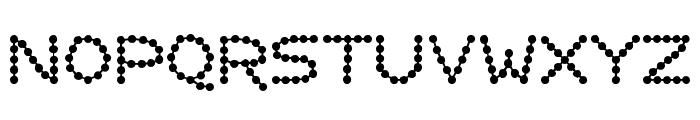 Perlenkette Font UPPERCASE
