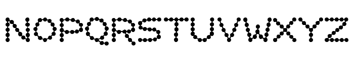 Perlenkette Font LOWERCASE